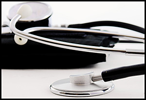 Photo of a doctor's stethoscope