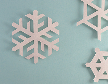 Decorative image of snowflakes