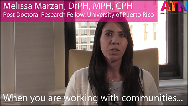Screen freeze of a video, which is showing Melissa Marzan, a diversity scholar