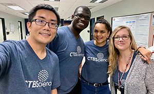 Four CTBScience researchers pose for a group photo.